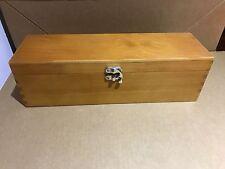 Weinbox Flaschen Geschenkbox Wein Box Schatulle liegend Holz geschliffen