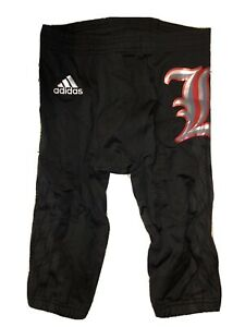 NEW Adidas Louisville Cardinals 2015 Team Issue Blackout Game Football Pants M