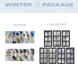 BTS - 2021 WINTER PACKAGE PHOTOCARD & 6-CUT FILM PHOTO JUNGKOOK V JIMIN SUGA JIN