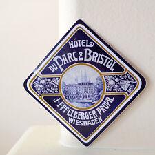 "#2954 Hotel Wiesbaden Hesse Germany Retro vintage luggage label 3"" DECAL STICKER"