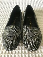 House Of Harlow 1960 entièrement orné de perles en cuir Chaussures Taille 36 EU, 3 UK