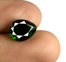 Loose Gemstone Green Garnet 1.90 Carat Natural Pear Cut African AGSL Certified