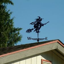 More details for creative retro witch weather vane metal windmill rotating sail garden ornament