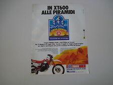 advertising Pubblicità 1986 YAMAHA ADVENTURE e XT 600 4 VALVES