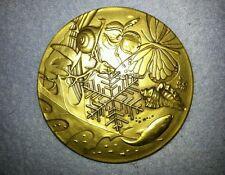 1983 Calendar Bronze Medallion Medallic Art Co Natural World by Edward Grove