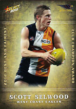 2013 AFL Champions 2012 Best and Fairest BF17: Scott Selwood