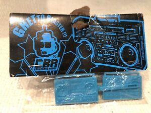 CARDBOARD ROBOT CBR 1 Pair Boom Box Ghetto Blaster blue HAIR CLIPS Barrettes