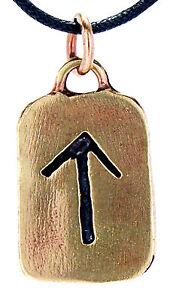 Rune Runen Anhänger Bronze Band/Kette Buchstabe T Tiwaz Tir Tyr Himmelsgott  102