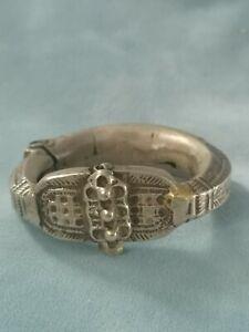 Antique Vintage ethnic tribal old silver Bracelet Bangle Rajasthan India