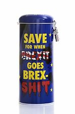 Money Tin ~ Fund/Fines/Tips/Savings/Box ~ BREXIT ~ With Padlock ~ Novelty & Fun