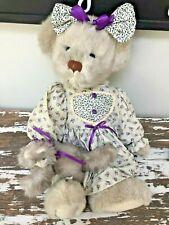 """ANNETTE FUNICELLO TABITHA BEAR & TABBY KITTY CAT 21"""" Teddy Bear LIMITED EDITION"""