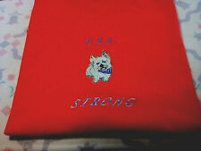 Cairn Terrier Ladies Red Tee. New Design Usa