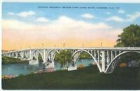 Gadsden Alabama Etowah Memorial Bridge Coosa River '40s  Antique Postcard  26092