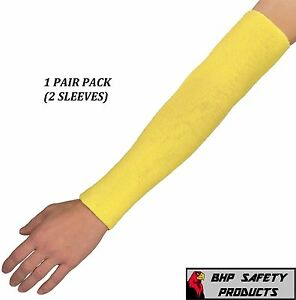 """DUPONT 18"""" KEVLAR CUT RESISTANT SLEEVE 18 INCH 2 PLY WASHABLE (2 PACK/ 1 PAIR)"""
