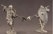 tin toy soldiers unpainted  54mm Viking with ax