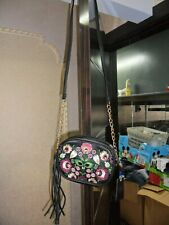~SUPER CUTE~ OMG Rose Embroidery SMALL CROSSBODY BAG on A Chain / PURSE NWT
