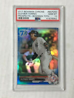 GLEYBER TORRES 2017 Bowman Chrome 70th BLUE SP RC! PSA GEM MINT 10! #BCP250!