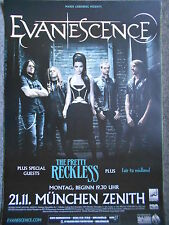 EVANESCENCE - THE PRETTY RECKLESS  2011  MÜNCHEN  orig.Concert Poster PLAKAT A1