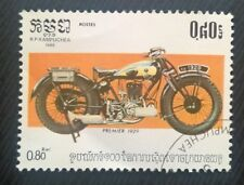 Kampuchea stamps - Premier 1929 Motorcycle - .80 riel 1985