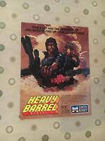 Data East Heavy Barrel Video Arcade Game Flyer, 1987 NOS