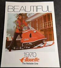 VINTAGE 1970 ALOUETTE  SNOWMOBILE SALES BROCHURE NICE (750)