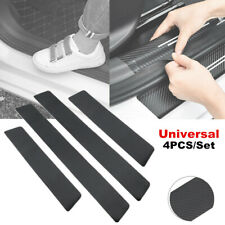 4X Carbon Fiber Car Door Plate Sill Scuff Cover Anti Scratch Sticker for BMW Kia