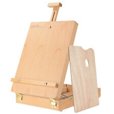 Adjustable Wood Classic Table Sketchbox Easel, Paint Palette, Premium Beechwood