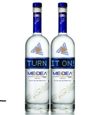Lot of 2 MEDEA Vodka LED Empty Bottles 750ML