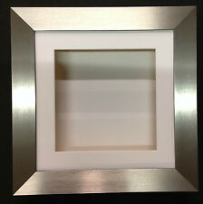 10x10 BRUSHED SILVER (55mm) DEEP 3D SHADOW BOX,CASTS,FLOWERS,MEDALS,3D FRAMING