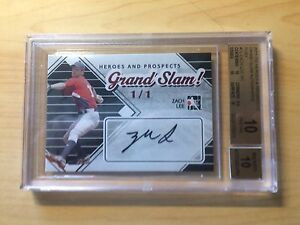 2011 HEROES & PROSPECTS GRAND SLAM AUTO RUBY RC ZACH LEE #1/1 BGS PRISTINE 10 10