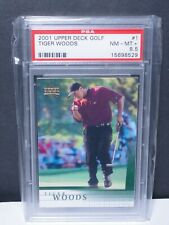 Tiger Woods RC PSA 8.5 - 2001 Upper Deck #1 - Rookie Card - Mint