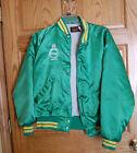 Vintage Pillsbury Ripon WI Warm-Up Type Jacket Size Lrg 44-46 Green & Gold