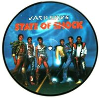 "EX/EX THE JACKSONS STATE OF SHOCK 7"" VINYL 45 PICTURE DISC MICHAEL JACKSON 5"
