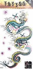 High Quality 19cm x 9cm Fake Temporary Tattoo Chinese Dragon /-b562-/