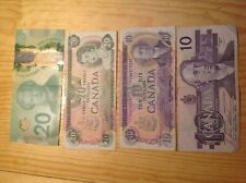 CANADA Banknotes Paper Money, 4 banknotes foreign exchange lot