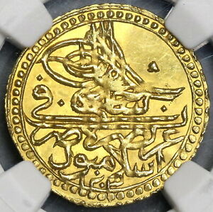 1801 NGC MS 63 Turkey Gold 1 Zeri Mahbub 1203/12 Mint State Coin (19052902C)