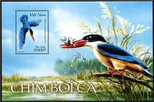 VIETNAM 2020 BIRDS KINGFISHERS SOUVENIR SHEET OF 1 STAMP IN MINT MNH UNUSED