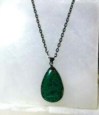 Dragon Vein Necklace Natural Stone Gumetal Black Chain Men Women Gift Ideal