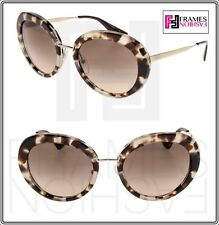 19bc9984e4 PRADA Cinema Round Pr16qs Spotted Opal Brown Gradient Sunglasses 16q  Authentic