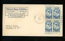 US FDC #735 Linprint M-1 2/10/1934 New York NY Byrd Antarctic Expedition