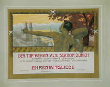 """Original Plakat - Der Turnverein """"Alte Sektion"""" Zürich"""