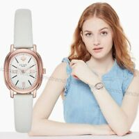 NWT 🌼 Kate Spade KSW1433 Staten Rose Gold Oval Case White Leather 33mm Watch