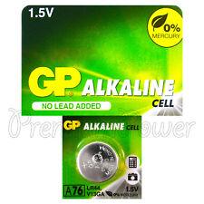 1 x GP Alkaline A76 LR44 battery 1.5V AG13 303 357 V13GA L1154 SR44