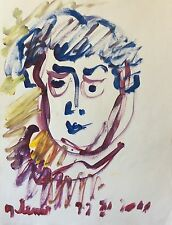 ART Brut  signature illisible ? Gouache 64,5 cm x 50 cm       b