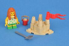 LEGO City The Beach Sand Castle & Girl Kid Child Minifigure Train Scenery Idea