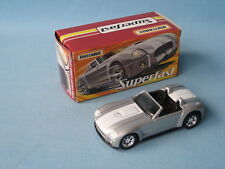 Matchbox Superfast Shelby Cobra Concept Silver USA Sports Car 70mm Boxed