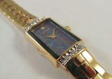 Lassale by Seiko Gold Tone Metal 2E20-2400 w/ Gemstones Sample Watch NON-WORKING