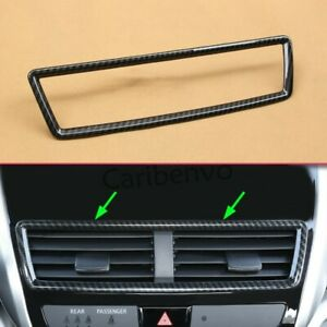 Carbon Fiber Look Car Middle Air Vent Frame Cover For Mitsubishi Eclipse Cross