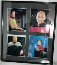 "Star Trek (4) Limited Edition 26"" Captain Chromium Prints with COA"