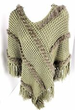 Medium October Sky Hooded Cape Hippie Boho Festival Shawl Crochet Knit